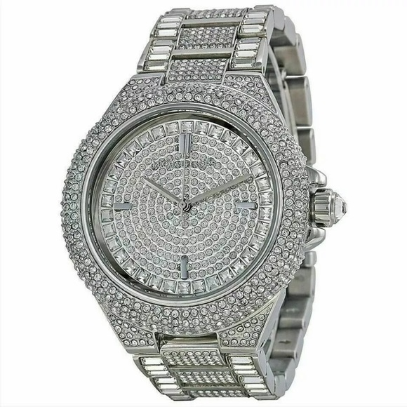 NWT Micheal Joe's blinged out watch silver
